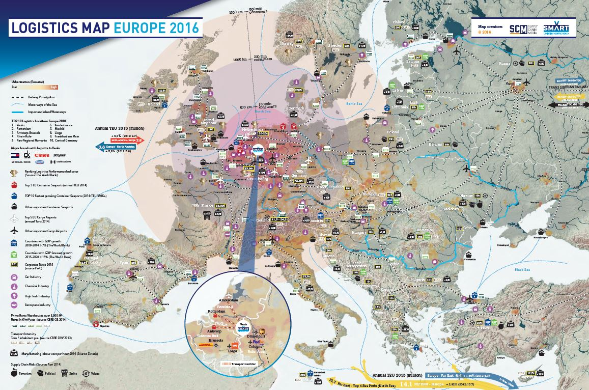Most Desirable Logistics Location Of Europe In 2018 Supply Chain