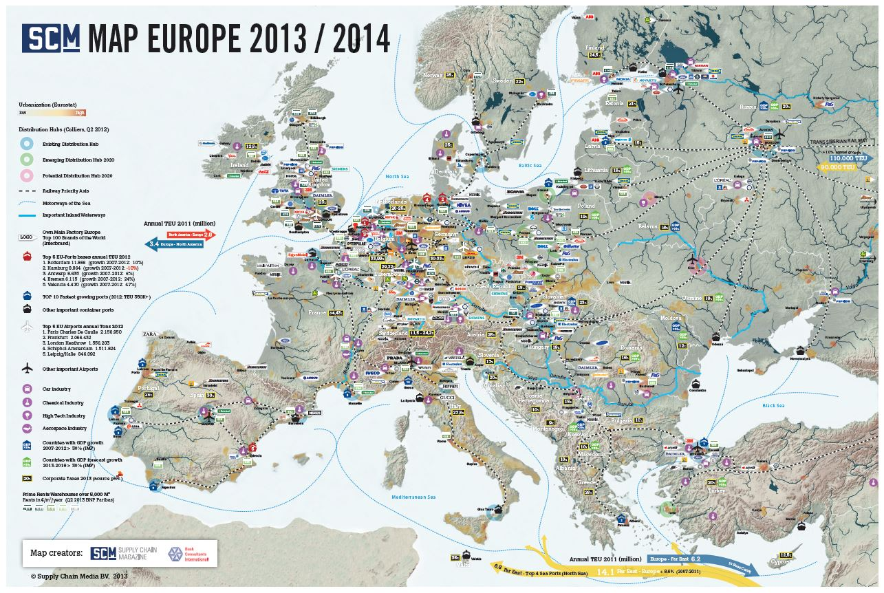 SCM Map Europe 2013-2014 - Supply Chain Movement