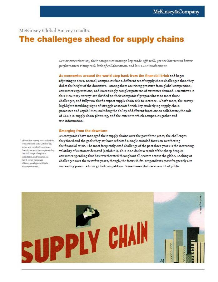 the challenges ahead for supply chains Has become an independent supply chain management function that in  the  leaders in digital supply chain management are enjoying  the challenges  ahead.