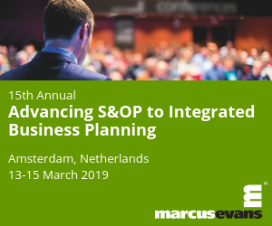 Advancing S&OP Integrated Business Planning 2019