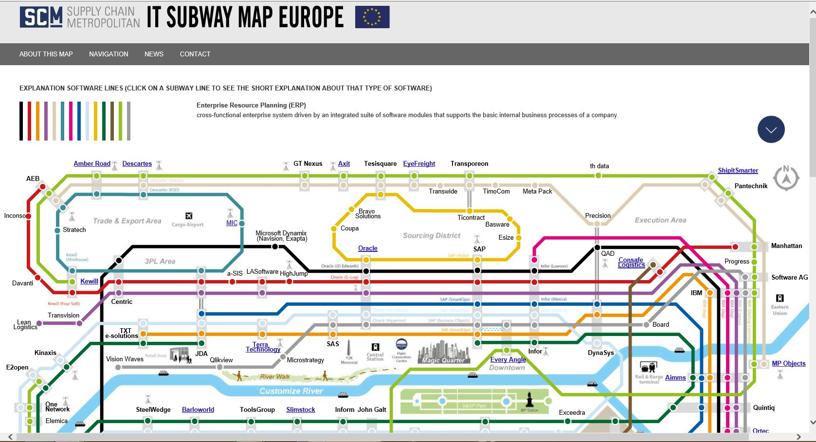 Subway Map 2016.Supply Chain Movement Starts Updating The It Subway Map 2016