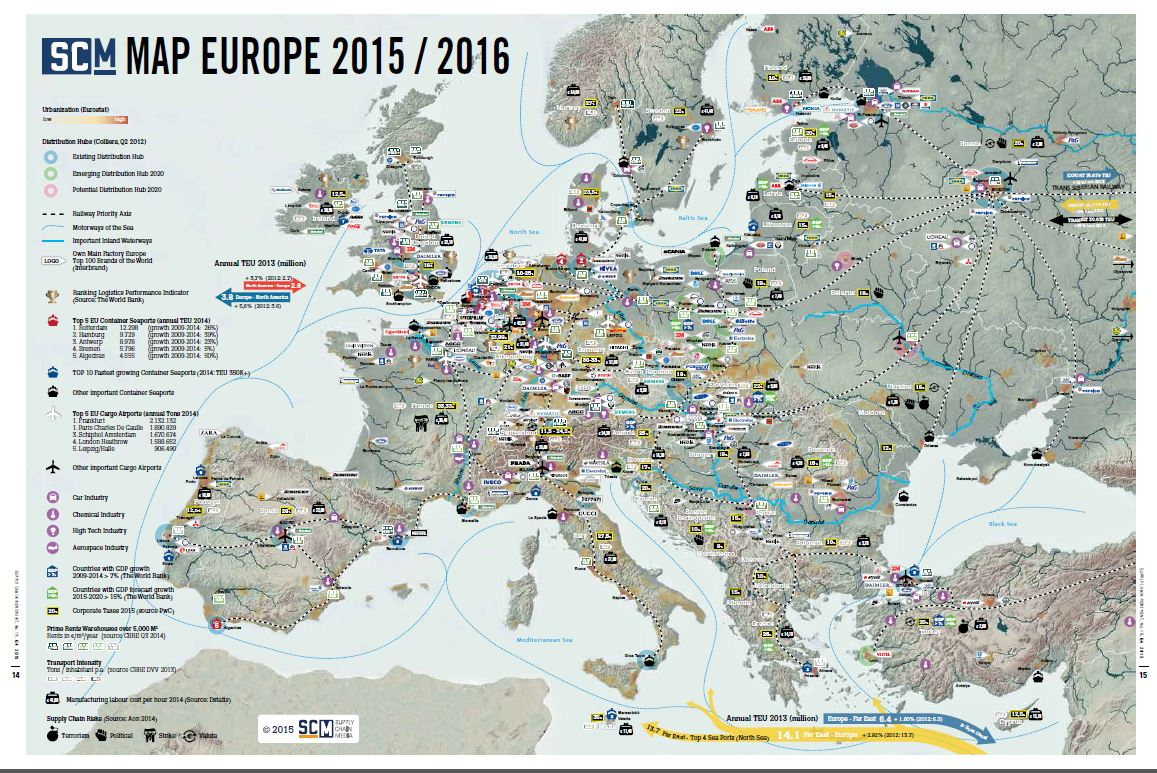 SCM Map Europe: European location decisions remain complex